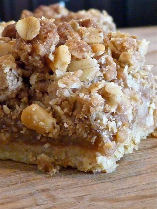 The mouthwatering oatmeal walnut crumbles