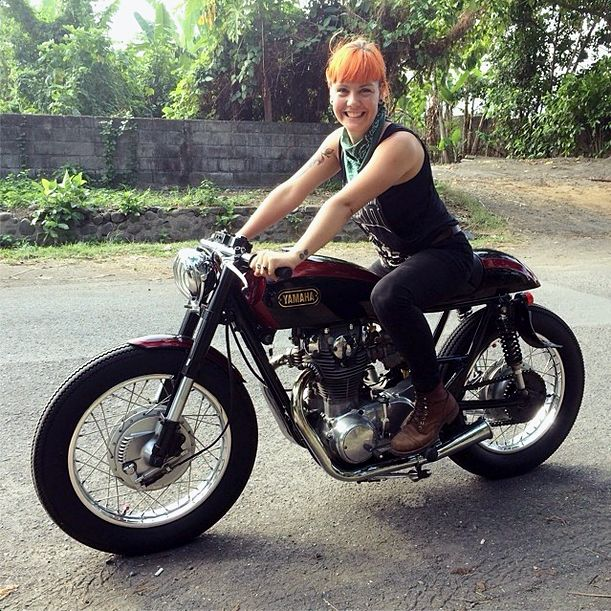 1000 images about real motorcycle girls on pinterest for Yamaha motorcycles for women