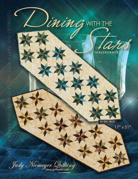 """This pattern includes enough foundation papers to make 2 table runners. Size: 17"""" X 51"""""""