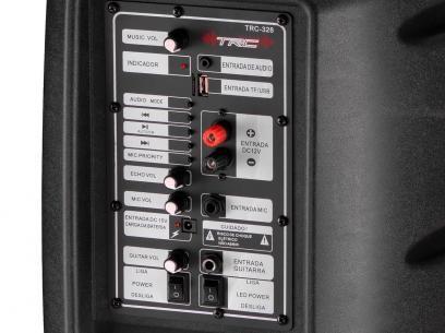 Caixa de Som Bluetooth Portátil TRC 328 100W - USB Microfone Entrada SD Bateria com as melhores condições você encontra no Magazine Slgfmegatelc. Confira!