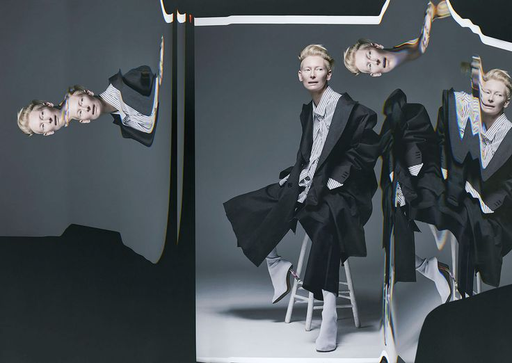Tilda Swinton by Sølve Sundsbø for OUT magazines' November issue