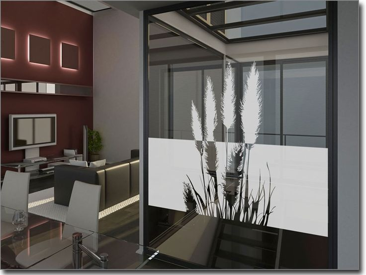Klebefolie Fr Fenster Blickdicht Pampasgras