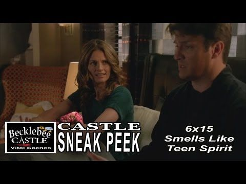 "▶ Castle 6x15 Sneak Peek #3 ""Smells Like Teen Spirit"" Caskett Talk on Band To Dance To on Wedding - YouTube"