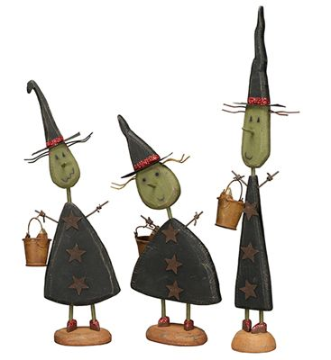 item 17599 witches three small standing primitives by kathy - Primitives By Kathy Halloween