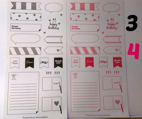 Polaroid Deco Stickers Instax Mini Black & Pink by PumpkinParcel