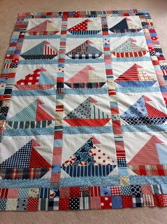 baby burrito quilts: A sailboat quilt....