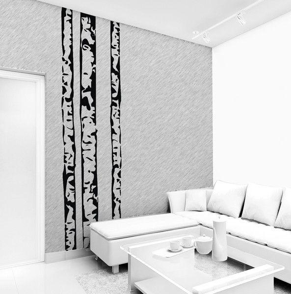 naklejka brzozy 250 cm x 68 cm - LoonyBinWorkshop - Naklejki na ścianę
