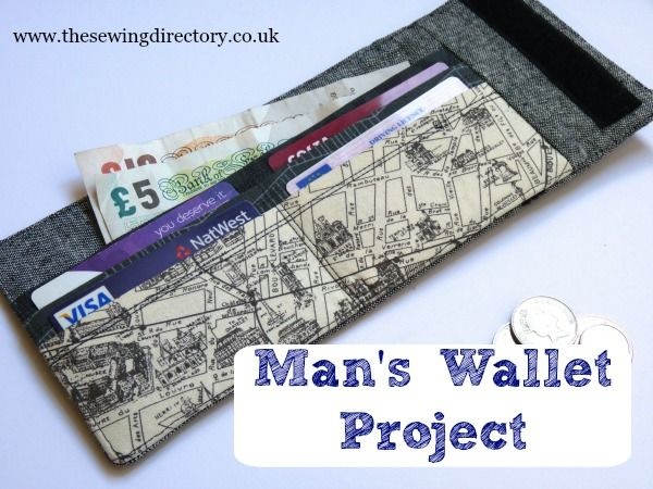 http://www.thesewingdirectory.co.uk/mans-wallet-project/ Man's Wallet Tutorial - perfect for Father's Day