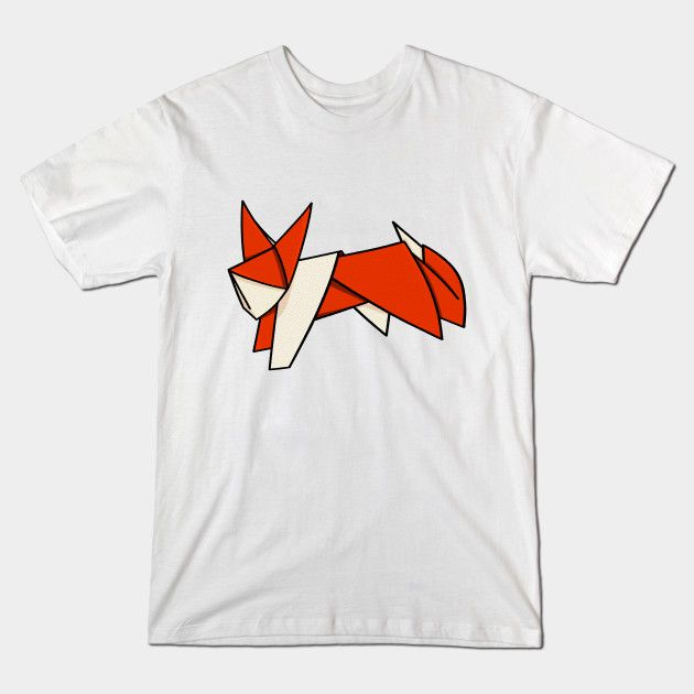 cute origami fox t-shirt, by me mailboxdisco at teepublic