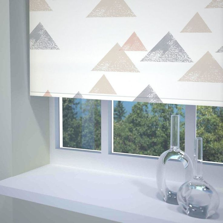 Textured Triangle Ready Made Blackout Roller Blind Coral