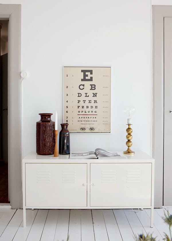 I'm crazy for medical decor, especially these optometrist boards.