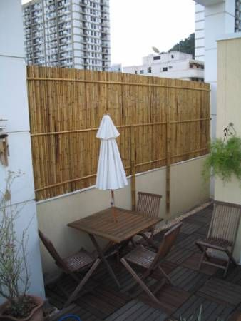 Lovely Bamboo Fencing for Balcony
