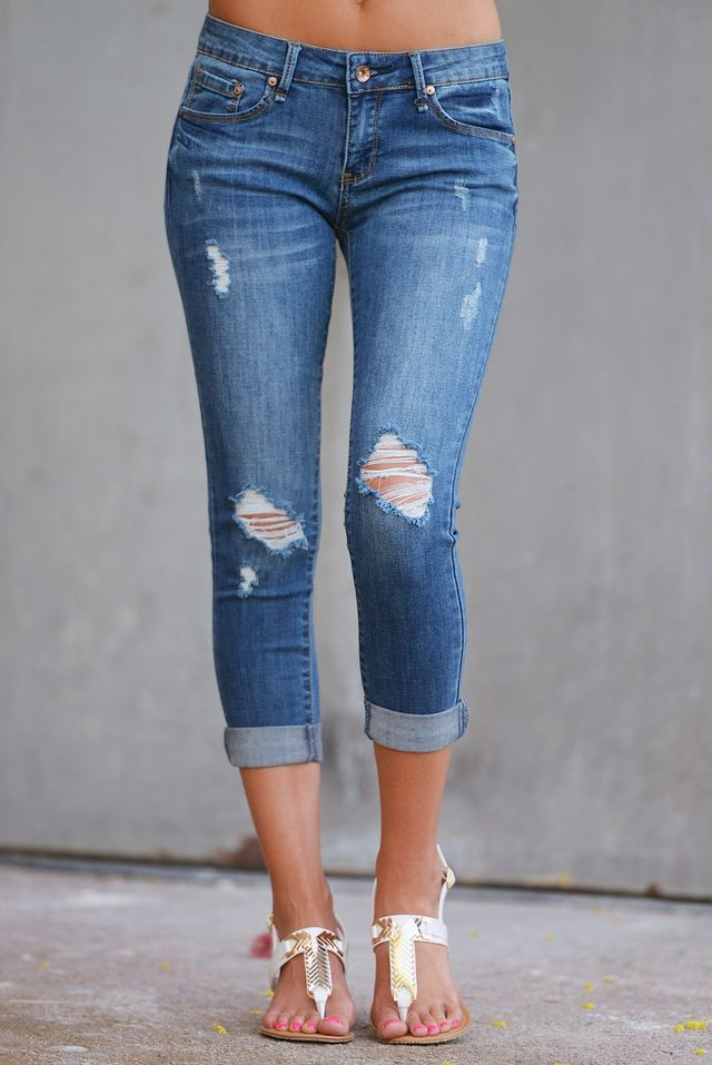 Can't Get Enough Crop Skinny Jeans - Medium Wash from Closet Candy Boutique  - - 60 Best Capri Jeans Images On Pinterest Capri Jeans, Miss Mes