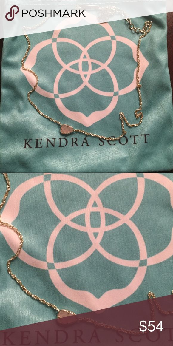 """Kendra Scott Hayden necklace Worn once. Gold with pink stone. 15"""" chain with 2"""" extender. Does not come with blue dust bag but will come packaged securely Kendra Scott Jewelry Necklaces"""