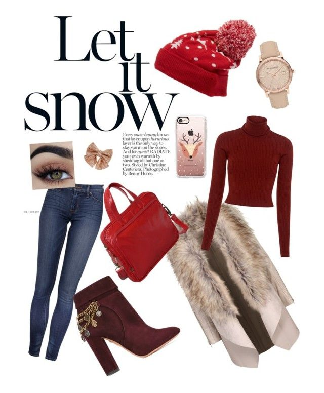 """""""Hey Winter set"""" by szabo-b-aniko on Polyvore featuring Collection XIIX, A.L.C., Aquazzura, Latico, Burberry, Casetify and Monsoon"""