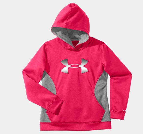 under armour sweatshirts for kids girls. girls\u0027 armour® fleece storm big logo hoodie under armour sweatshirts for kids girls
