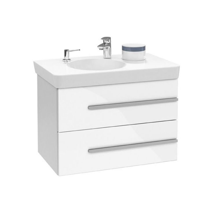 "V&B Joyce 2 Drawer Vanity Unit. Magnetic ""Apps"" that slot into place"