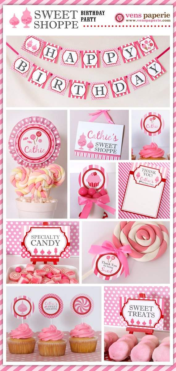 Chic Sweet Shop party , DIY printable decoration (www.venspaperie.com)