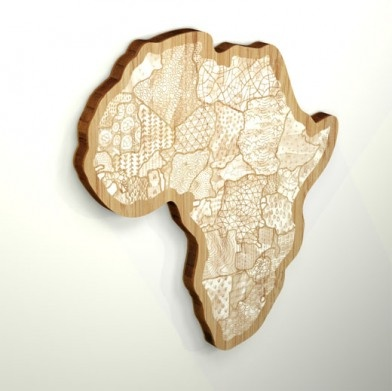 patterned africa wall art