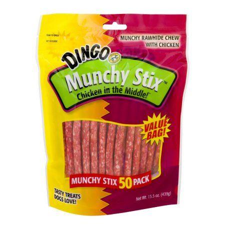 United Pet Group Dingo Munchy Stix Dog Treats, 50-Count, Multicolor