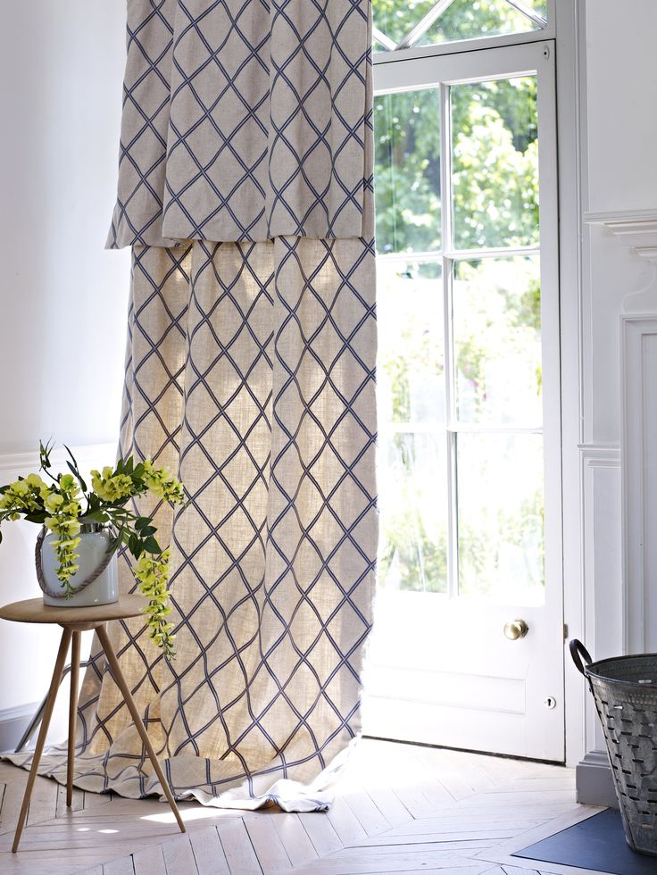 Nice Let Summer At Home! Check Pattern Curtains, Linen Curtains, Textiles  Designed By Prestigious