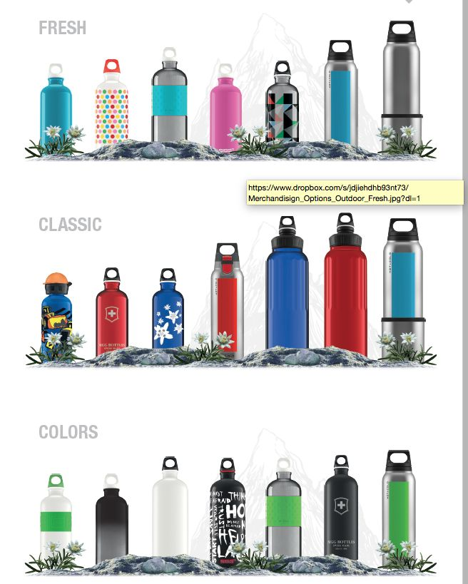 SIGG FINISH/CLASSIC/COLORS Collections