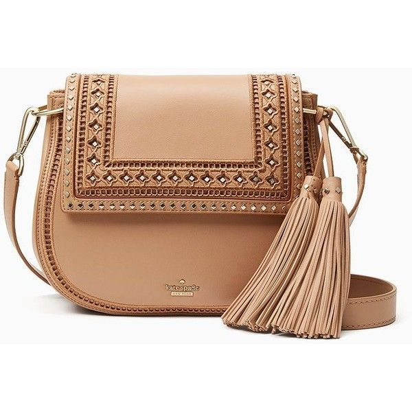 Kate Spade Basset Lane Emaline (390 CAD) ❤ liked on Polyvore featuring bags, handbags, shoulder bags, purses, bolsas, kate spade purses, crossbody shoulder bag, studded crossbody purse, kate spade handbag and man bag