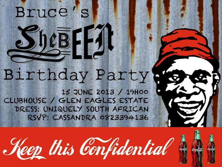 Shebeen invitation