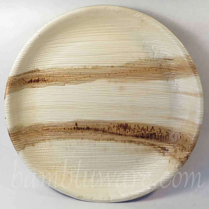 Arthware Palm Leaf Plates Bowls | Disposable Tableware | 10 Inch Round | 100