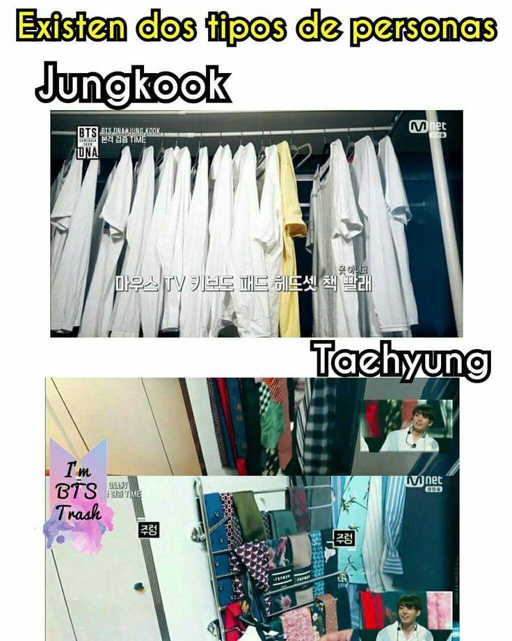 Jajajajaja JK siempre con la camisa blanca la vieja confiable jajajaja y sus botas parfavarts mientras tanto tae y sus muchss diferentes tipos de telas texturas formas y colores en ropa