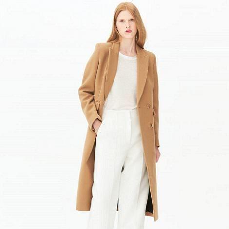 Manteau femme long camel Gaby - Sandro