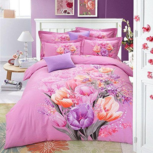 BL Bedding Set, 100% Cotton King Size Bedding Sets, 4PCS with Duvet Cover, Bed Sheet, 2PCS Pillow Case (Comforter Not Included) //Price: $65.28 & FREE Shipping //     #bedding