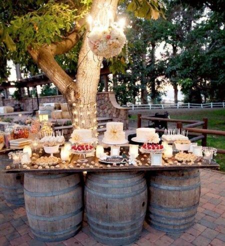 Barriles de Vino para las Mesas.