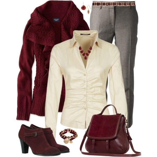 """""""Plus Size Fall Fashion in Wine"""" by elise1114 on Polyvore"""