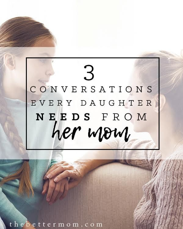 As our girls are growing up and blossoming into young ladies, they present more challenging questions, trickier problems, and plenty of how-in-the-world-do-I-handle-this moments. Its important to learn to scout ahead and guide our girls through their inevitable growing pains, armed with carefully sought wisdom from God. Here are three conversations we should all be prepared to share with our girls...