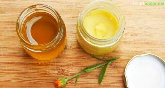 Herstellung des Ringelblumen-Auszugsöl  Zur Herstellung des eigenen Ringelblumenöls gibt es zwei mögliche Herangehensweisen. Zuerst stelle ich dir den Kaltauszug vor, auch Mazerat genannt. Zur Herstellung benötigst du:      Blütenblätter von Ringelblumen     Sonnenblumenöl kaltgepresst (alternativ Rapsöl, Distelöl oder Olivenöl)
