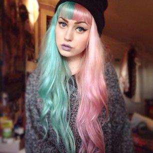Esta princesa de colores pastel. | 28 Chicas que combinaron perfectamente el cabello teñido