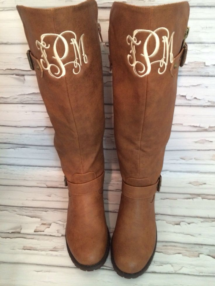 Monogram Personalized Quilted Riding Boots Tall Women's Leather Size Copy by thepurplepetunia on Etsy https://www.etsy.com/listing/217556678/monogram-personalized-quilted-riding