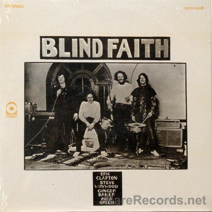 Blind Faith - Blind Faith Blind Faith's only LP, released in 1969, was issued with two different covers in the United States. While the copy shown was the more common cover in the 1970s, all reissues have had the cover with the girl on it, making this one rather scarce today. The copy shown is still sealed. #records #albums #vinyl Click here to learn more about this record: http://www.rarerecords.net/store/blind-faith-blind-faith-still-sealed-1969-atco-lp/