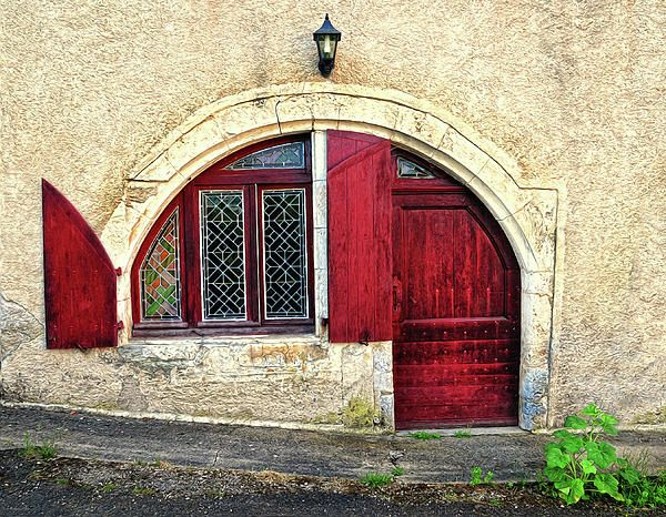 Red Windows and Door. Provence, France