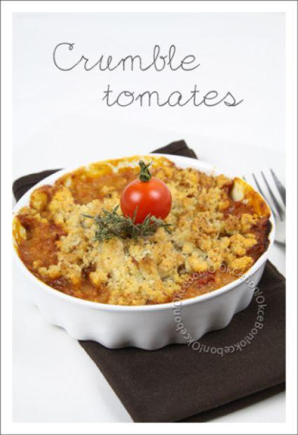 Crumble de tomates, parmesan et noisettes