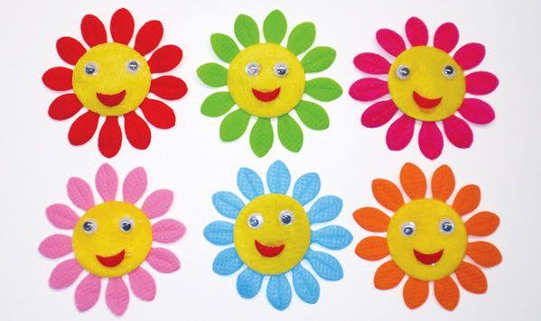 Ήλιος πάνινος σε διάφορα χρώματα για να δημιουργήσετε μπομπονιέρες βάπτισης, διακοσμήσεις ή οτιδήποτε έχετε φανταστεί