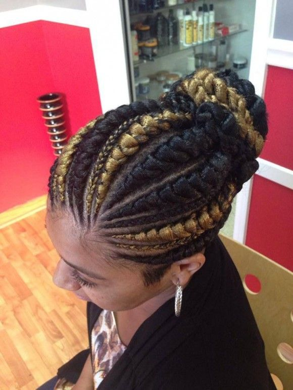 A Famous Hairstyle Goddess Braids Big Cornrows