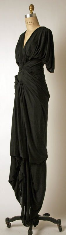 Madame Gres, 1935ish, another view of this amazing black dress.