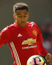 Jesse Lingard reacts to being taken off at half-time in Man United's derby defeat