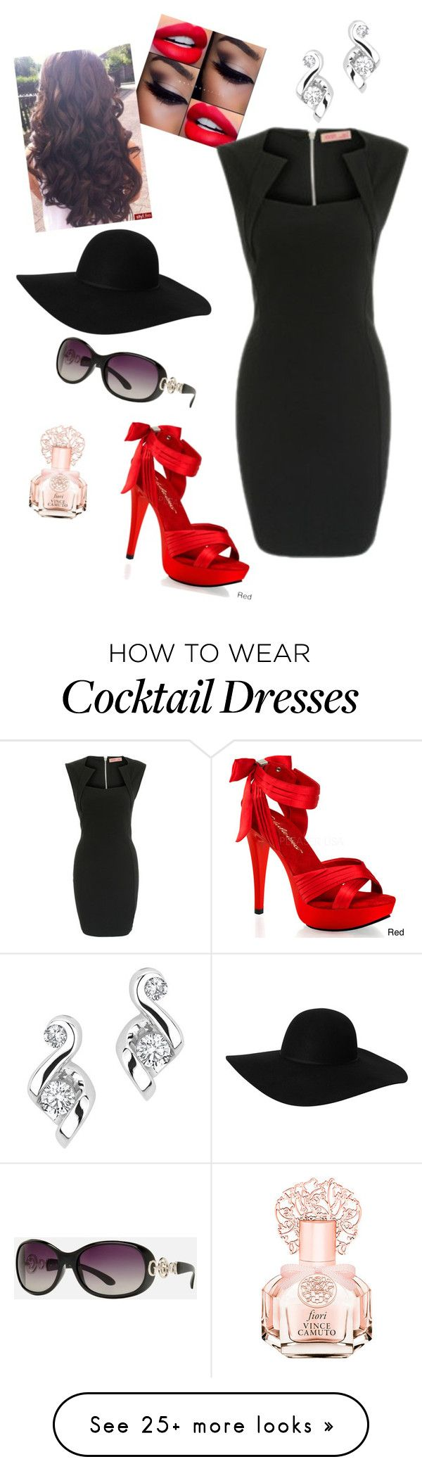 """""""Untitled #238"""" by sassysouthernbelle on Polyvore featuring Monki, GUESS, Vince Camuto and Pleaser"""