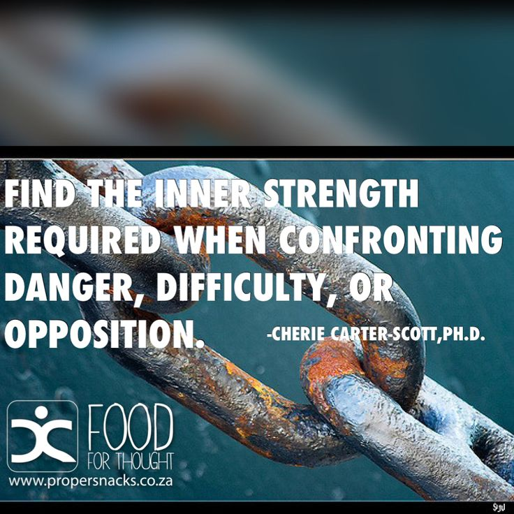 Find the inner strength required when confronting danger, difficulty, or opposition