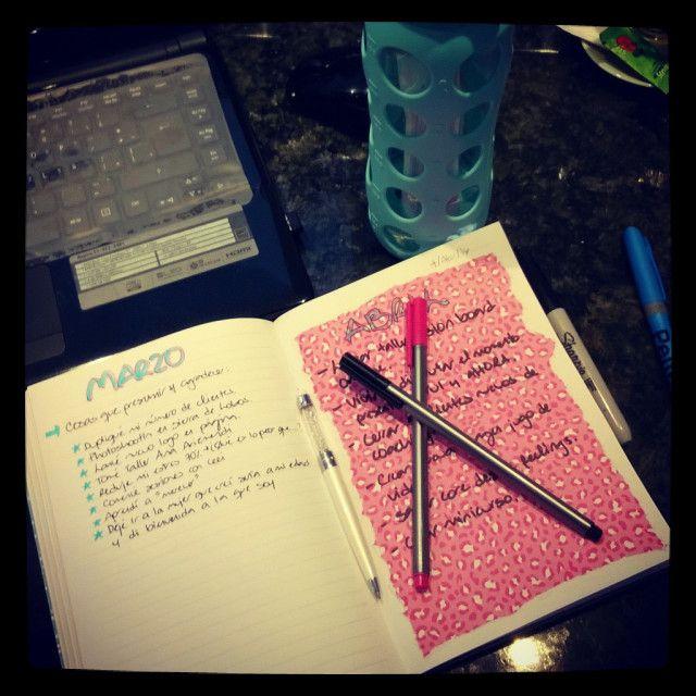 Escribir metas mensuales