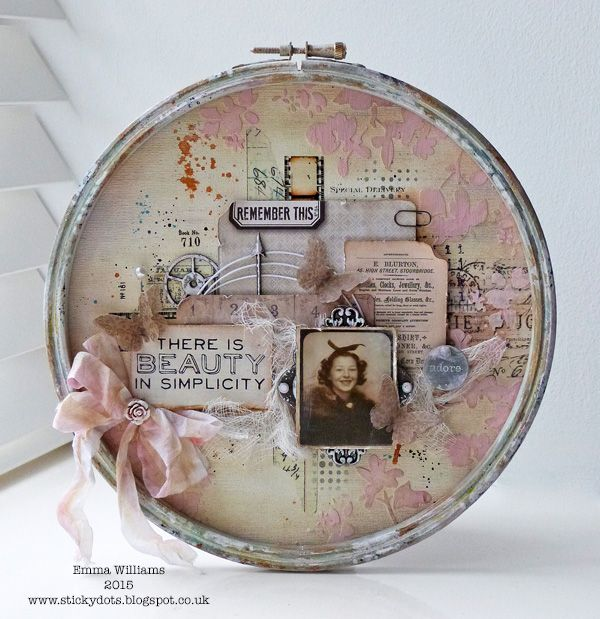 Tim Holtz Home Decor created by Emma Williams for the Simon Says Stamp Blog