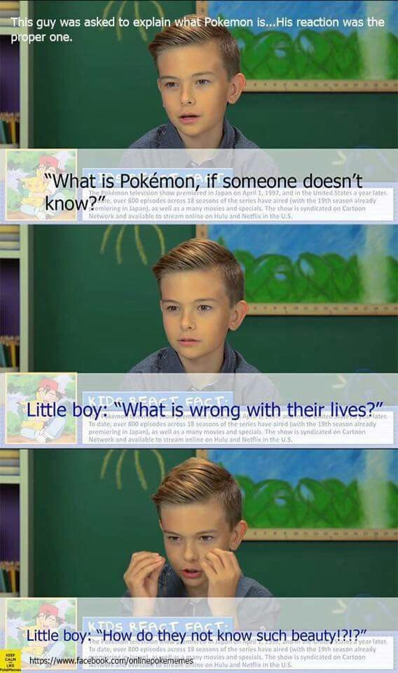 Little boy is asked to describe Pokemon as if someone didn't know